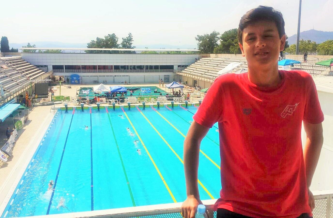 Nicolás Queijeiro acude al Nacional Infantil de Pontevedra